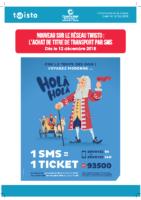 Communiqué – lancement du ticket Twisto par SMS