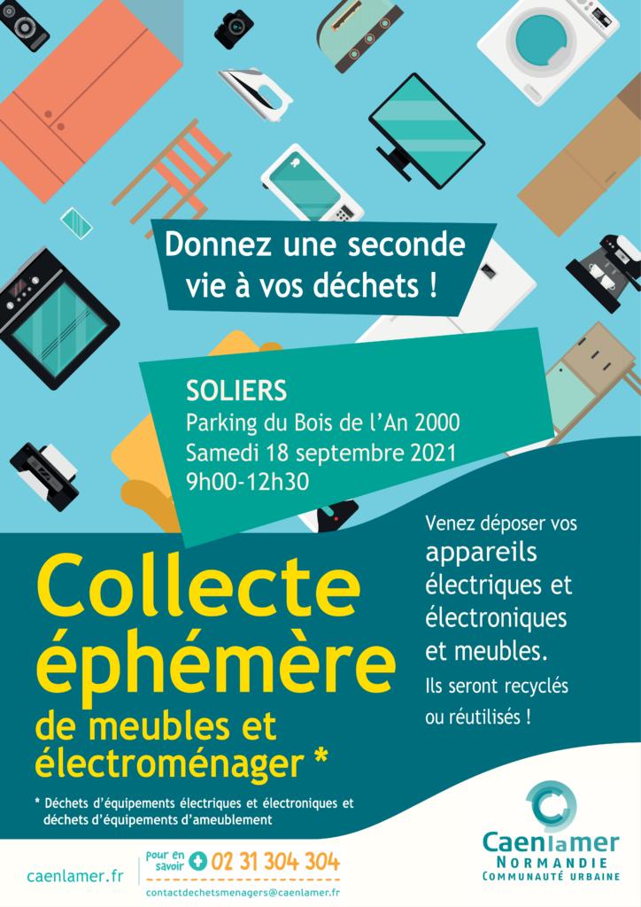 Parking du Bois de l'An 2000 Samedi 18 septembre 2021 9h00-12h30  Donnez une seconde vie à vos déchets !  Venez déposer vos appareils électriques, électroniques et meubles. Ils seront recyclés ou réutilisés !